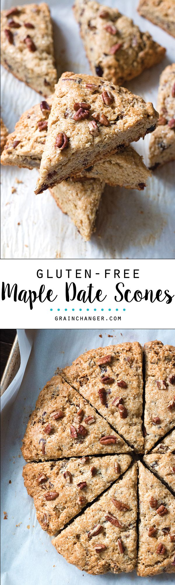 Comforting and nostalgic, these Gluten-Free Maple Date Scones will turn even the biggest scone skeptics into believers!