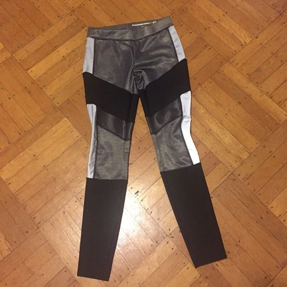 Alexander Wang for H&M leggings size 6 Up for sale is a pair of Alexander Wang for H&M leggings in a size 6. From one of the most successful H&M collabs. Still very much on trend. Worn once. No signs of wear. H&M Pants Leggings