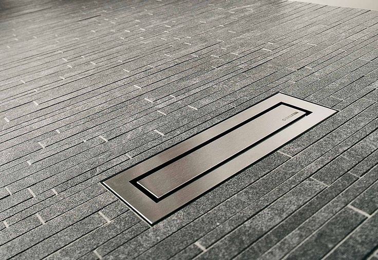 Linear floor drain CeraNiveau by Dallmer - floor drains - architecture at STYLEPARK
