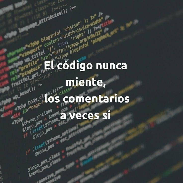 """3 Likes, 1 Comments - Jordi Cabot (@ingdesoftware) on Instagram: """"El código nunca miente, los comentarios a veces sí  #código #codigo #comentario #doc #documentación…"""""""