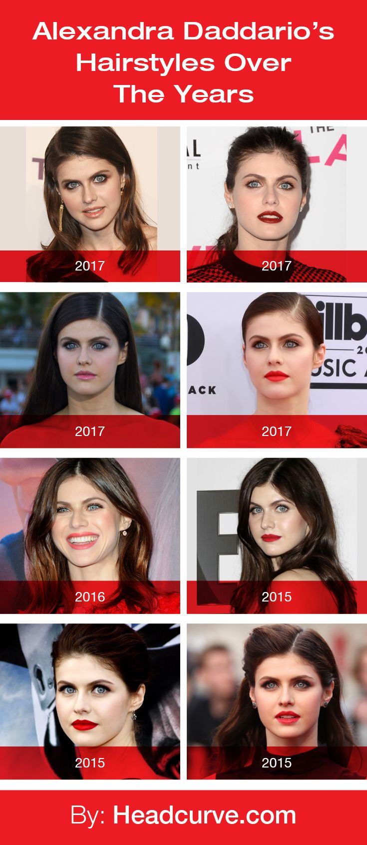 Alexandra Daddario's Hairstyles Over the Years