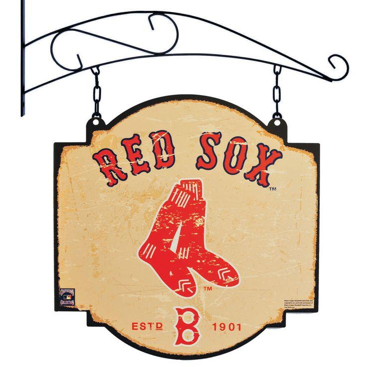 "Boston Red Sox 16"" x 16"" Tavern Sign - Cream"