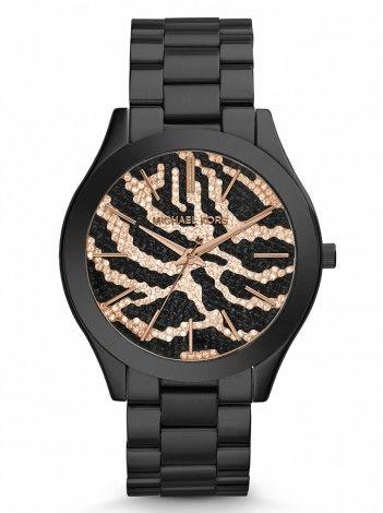MICHAEL KORS Slim Runway black stainless steel bracelet ΜΚ3316 http://kloxx.gr/brands/michael-kors/michael-kors-slim-runway-black-stainless-steel-bracelet-mk3316