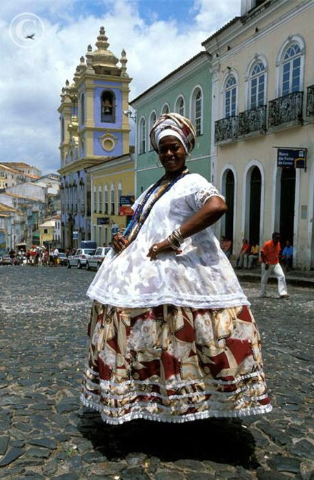 Traditional dress. Salvador da Bahia. Brazil.