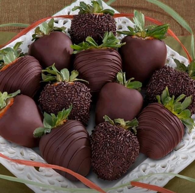 Morango e chocolate! Delicia!!