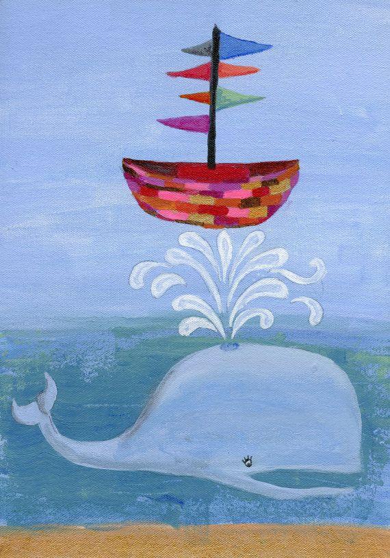 Whale Art Print by coocoovaya, €15.00