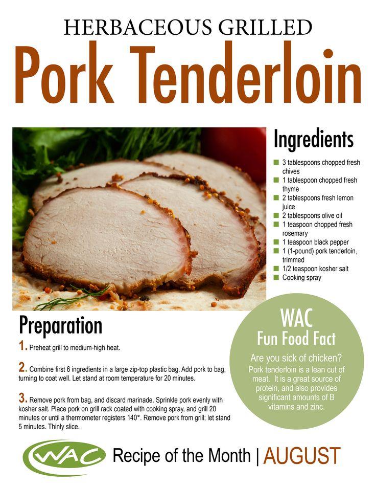 Herbaceous Grilled Pork Tenderloin TheWAC Recipe