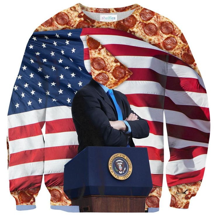 Sweatshirts - Pizza For President Sweater