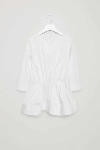 COS image 2 of Top with elastic waist in White