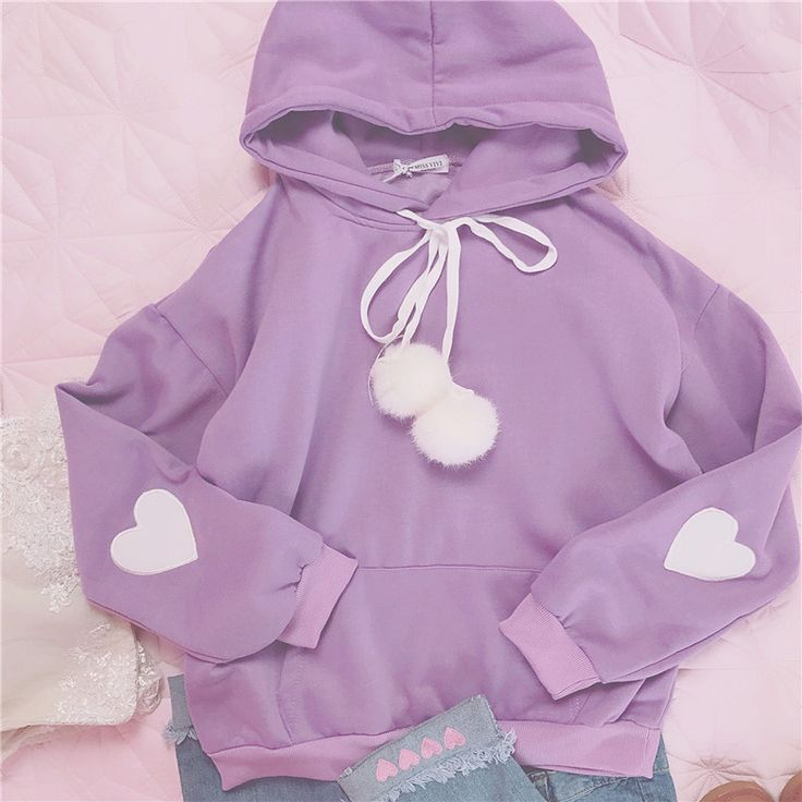Cute Clothes Hoodie on Girly Girl の To Alice.Japanese Cute Sleeve Heart Applique Hoodie Girly Pullover Gg698 is a must to make an amazing outfit. You can wear it in any occasion - school, office, dates, and parties.