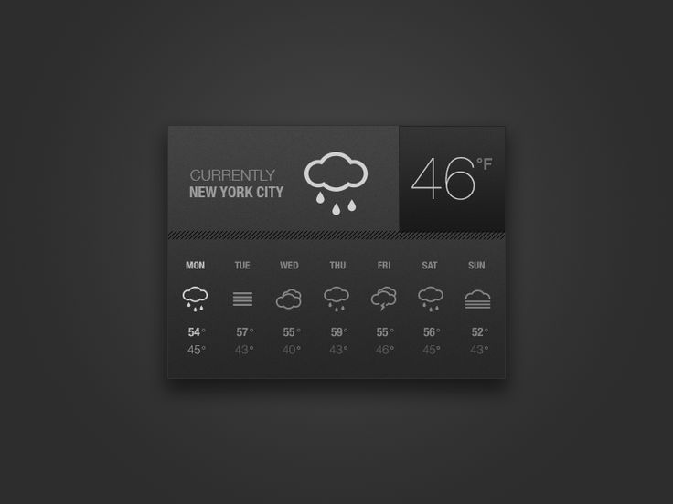 Weather Widget / #ui