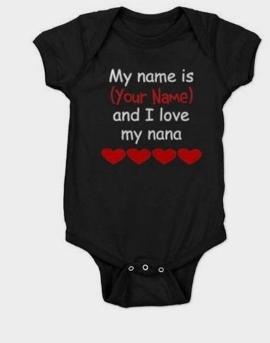 Baby personalized gifts 64 pinterest cafepress personalized my name is and i love my nana baby bodysuit walmart gifts http negle Gallery