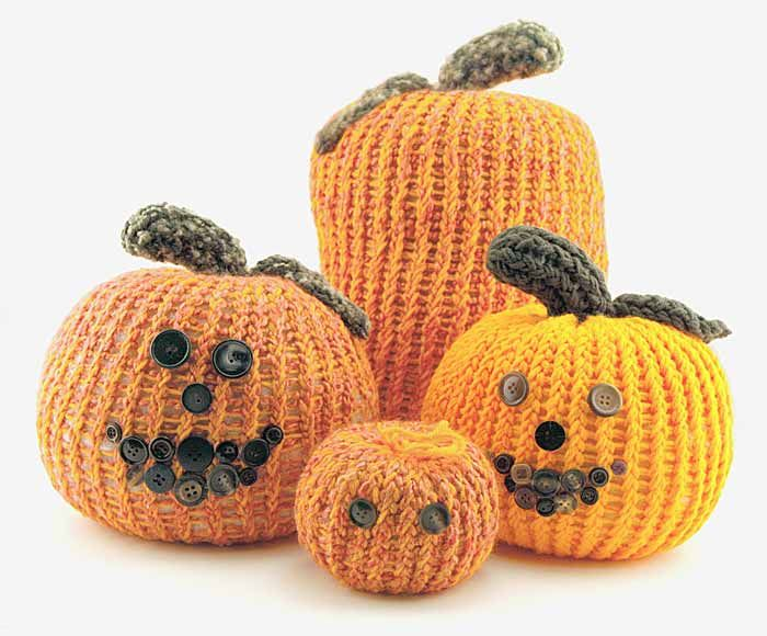 pumpkin crafts | these pumpkins can be made on any of the round looms the size of the ...