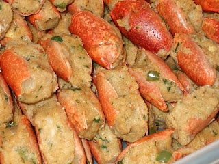 Crawfish Bisque. Want to make this when crawfish season gets here. Julia Child will be home :) so she can help Betty Crocker make it!