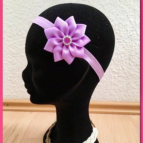 Lavender flower baby headbandlavender flower