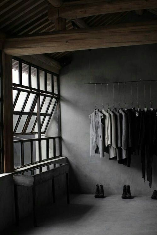 Dark moody grey wardrobe