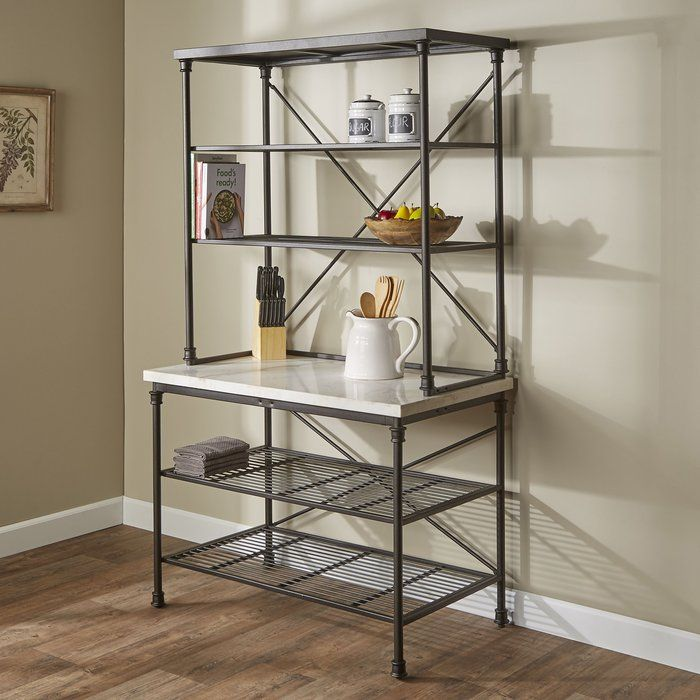 Steel Baker S Rack With Images Bakers Rack Furniture Home Decor