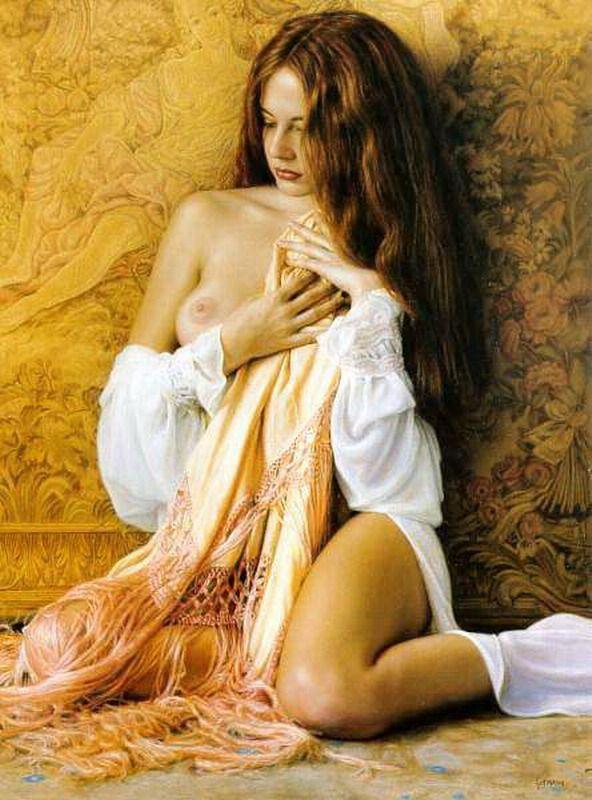 Pintura y Fotografía Artística : Mis mejores desnudos de mujeres, Pinturas al óleo de Douglas Hofmann, USA