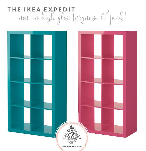 IKEA Expedit now in High Gloss Pink & Turquoise