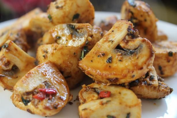 BBQ Mushrooms With Brazilian Spices #vegan