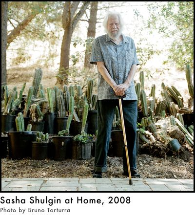 "Alexander T. Shulgin, known to friends and admirers as ""Sasha"", is a biochemist and pharmacologist best known for his synthesis, creation, and personal bioassay of over 500 novel psychoactive compounds."