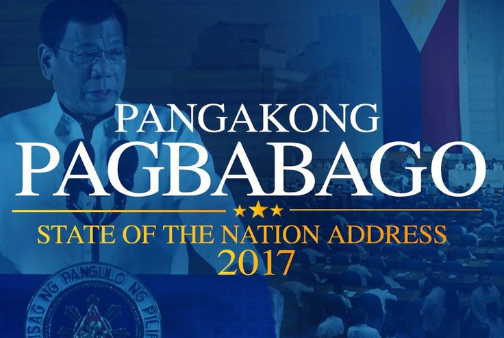 Rodrigo Roa Duterte, the 16th President of the Republic of the Philippines, is set to deliver his second State of the Nation Address (SONA) at the Batasang Pambansa on Monday, July 24, 2017. Duterte's State of the Nation (SONA 2017) address will be attended by top politicians, diplomats, and former Presidents of the Republic SONA 2017 will be streamed live on Facebook, Youtube and will be aired live on ABS-CBN, GMA-7, PTV 4 and other television networks in the country. Watch it live courtesy…