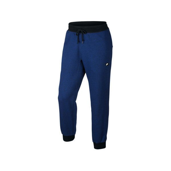 Nike Men's Shoebox Cuff Sweatpants (98 BRL) ❤ liked on Polyvore featuring men's fashion, men's clothing, men's activewear, men's activewear pants, blue, mens sweat pants, mens sweatpants, mens patterned sweatpants and mens cuffed sweatpants