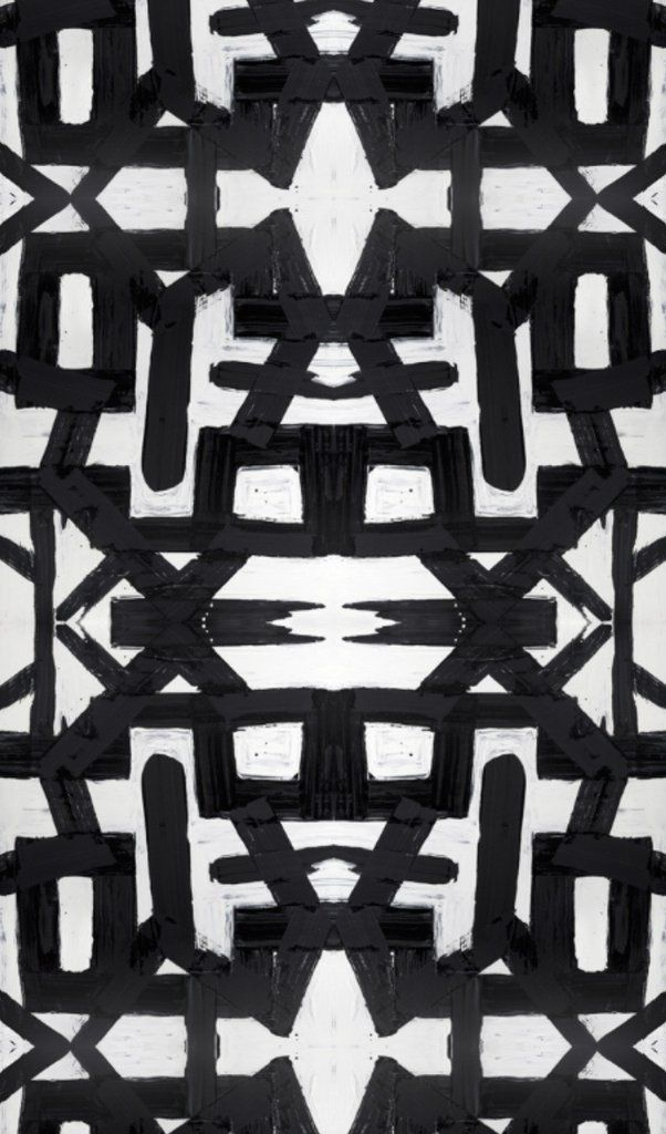 82113 Black White Wallcovering – Bradley USA