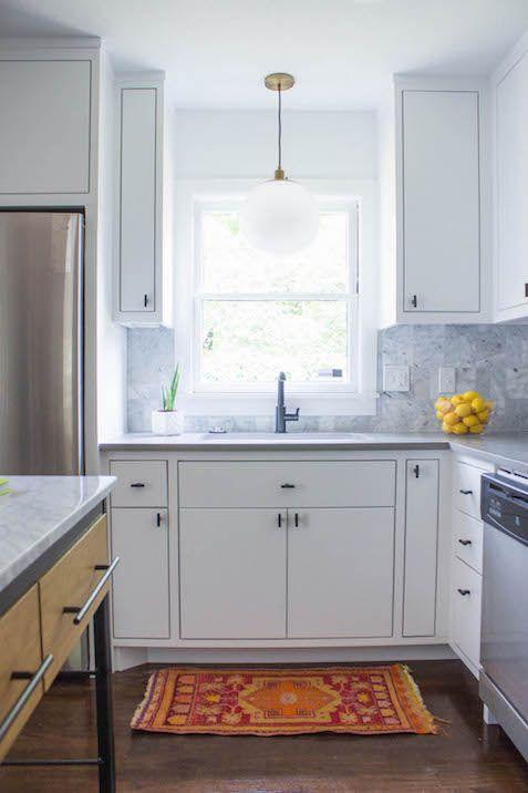 White Kitchen For HGTVu0027s House Hunters Renovations   Sarah Stacey Interior  Design   Austin, ...