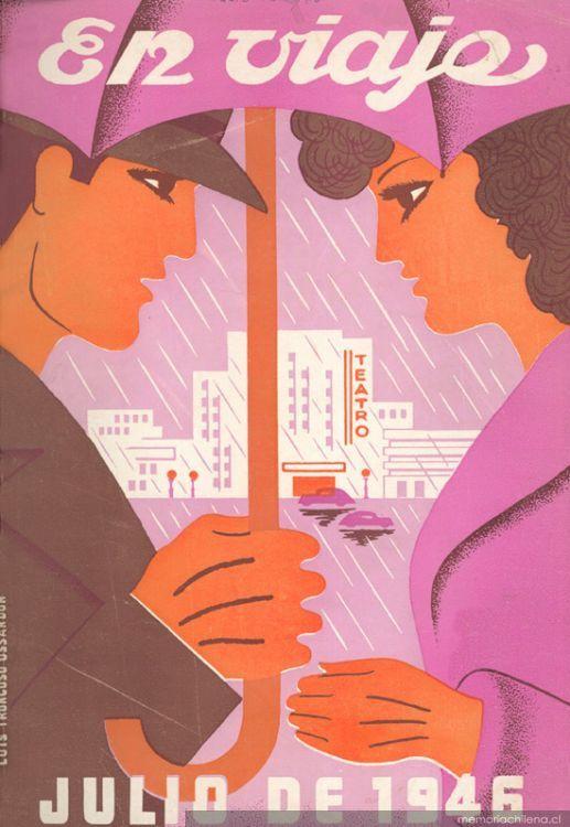 Portada de revista En viaje, de Luis Troncoso Ossandón (1946)