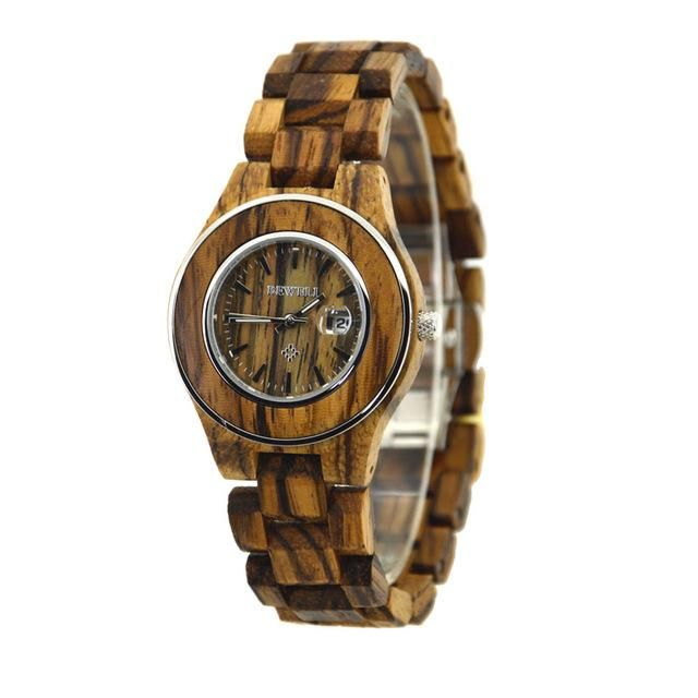 BEWELL Hand-made Women Elegant Watches 2017 Top Brand Waterproof Watch Ladies Luxury Wooden Quartz Wristwatches With Paper Box