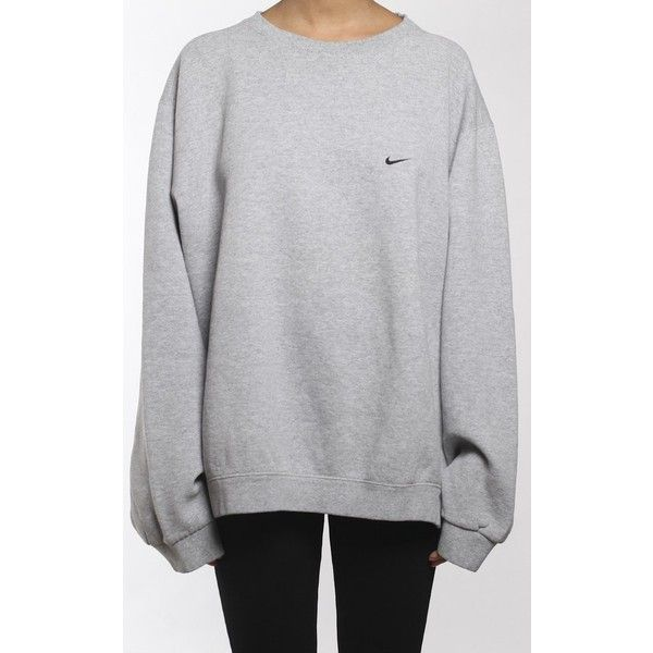 Vintage Nike Sweatshirt ($28) ❤ liked on Polyvore featuring tops, hoodies, sweatshirts, nike sweatshirts, nike, vintage tops, vintage sweatshirts and nike top