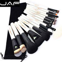 15 pcs JAF Marca Pincéis de Maquiagem Profissional Maquiagem Beleza Blush Contorno Fundação Cosméticos Pó Pincel de Maquiagem Conjunto Kit de Ferramentas alishoppbrasil