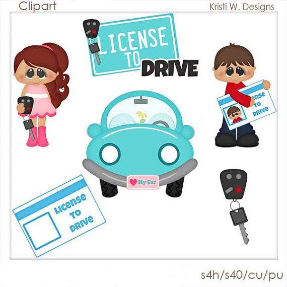 SCRAPBOOKING DIGITAL CLIPART  licencia de conducir por BoxerScraps
