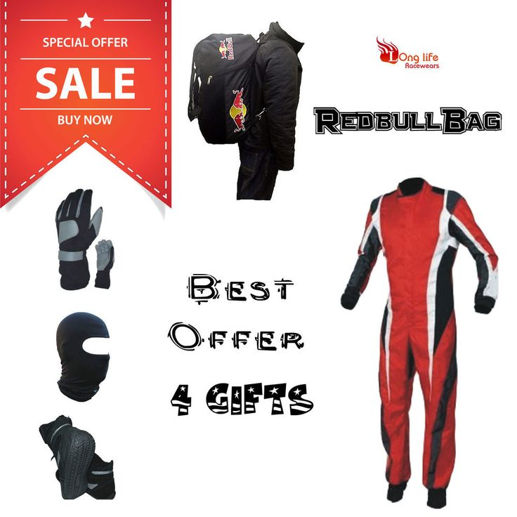 Go Kart Race Suit CIK/FIA Level 2 Best offer Redbull bag Longlife Racewears #LonglifeRacewears