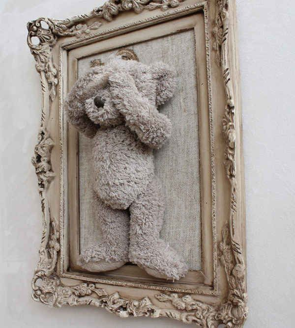 A framed favorite teddy.