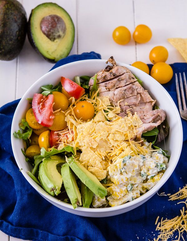 Southwest Cobb Salad: Southwest Cobb, Meagan Wie, Poblano Peppers, Zesty Bites, Summer Salad, Cobb Salad 2, Healthy Chow, Avocado Slices, Grilled Corn