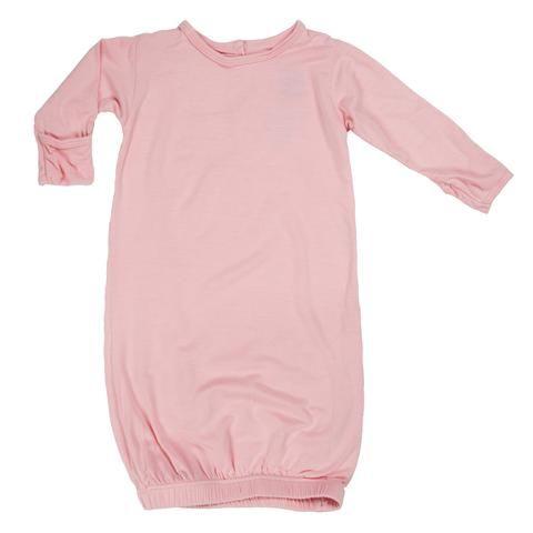 KicKee Pants Basic Layette Gown & Knot Hat Set (Lotus)