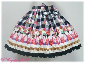 Triple Tart skirt in black - Angelic Pretty