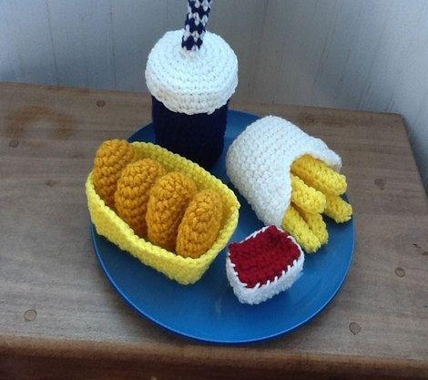 Spiel Küche Essen Fake-Essen für Kinder Fake Food von KnitNKnots
