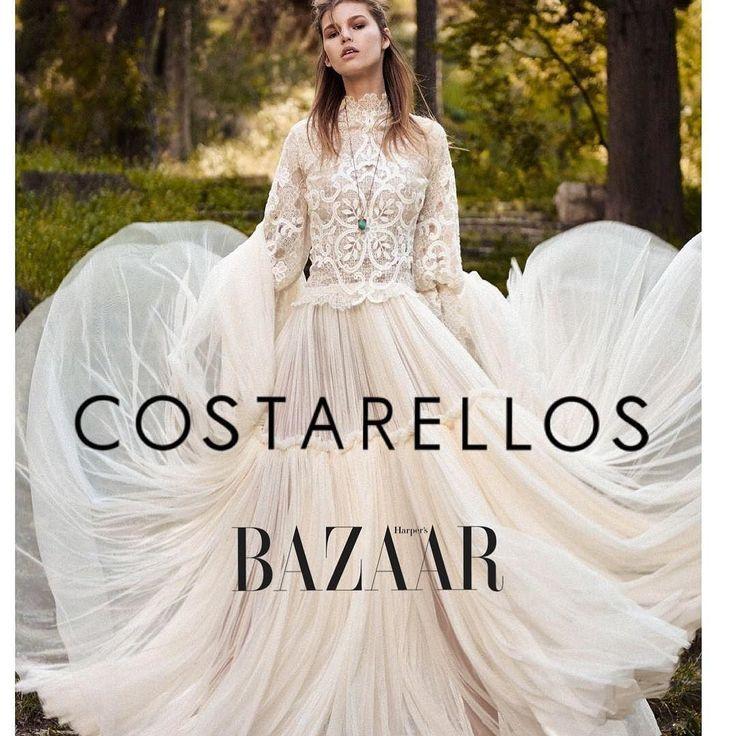 Costarellos creations among the best Bridals 2018 according to #harpersbazzar  Read more |link in Bio| ...................................... #costarellos #weddingdress #hautecouture #designer #best #bridal #2018 #wedding #dress #harpersbazaar #review