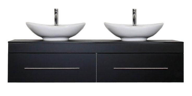 Badmöbel Classico XL schwarz seidenglanz
