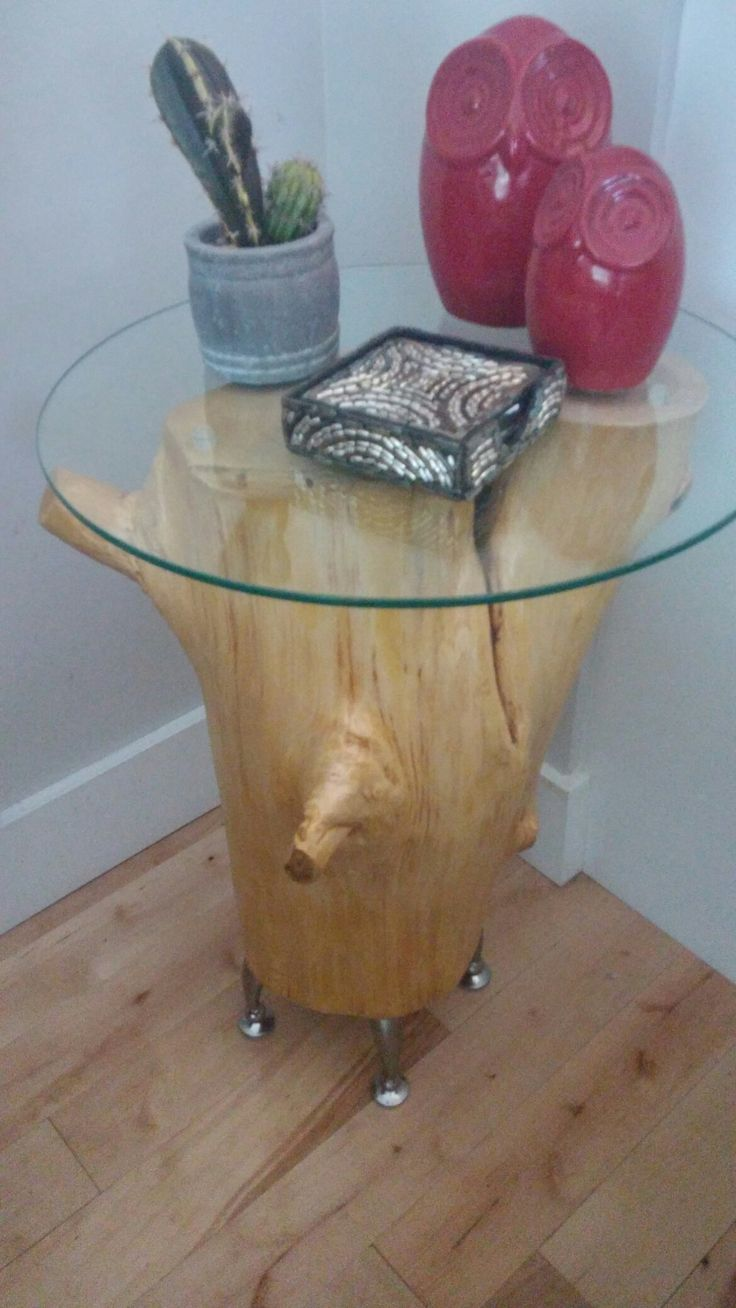 Cider tree stump,torne in to side table