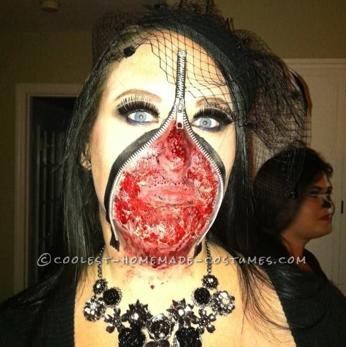 Scary Zipper Face Costume... This website is the Pinterest of costumes