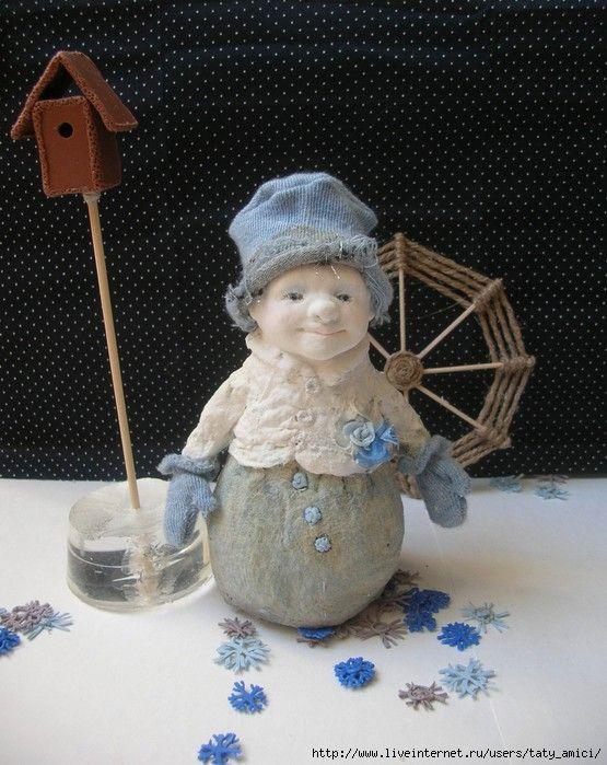 Снеговички из папье-маше. Обсуждение на LiveInternet - Российский Сервис Онлайн-Дневников