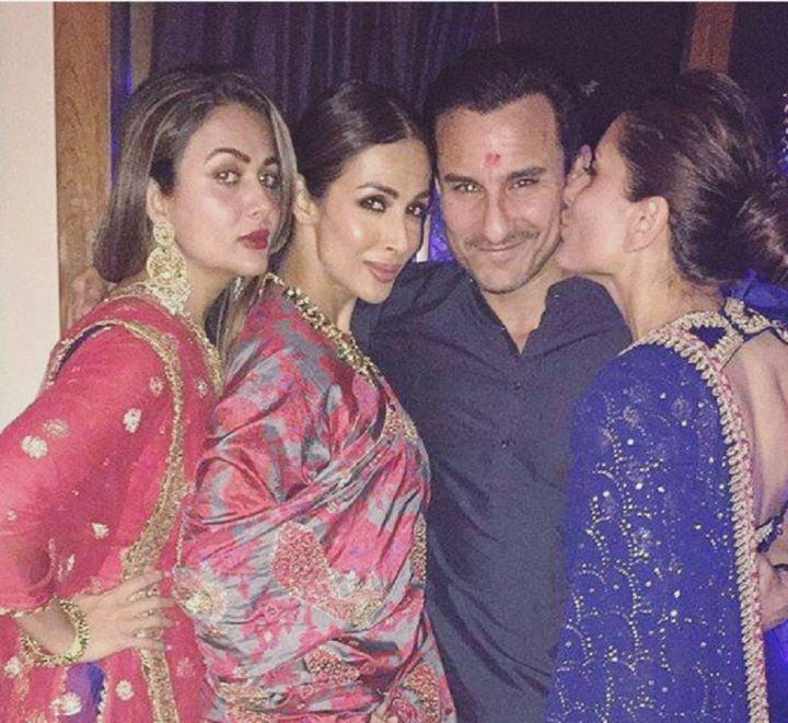 Saif Ali Khan kissed by wife Kareena Kapoor Khan | >>>CinemaCeleb<<<