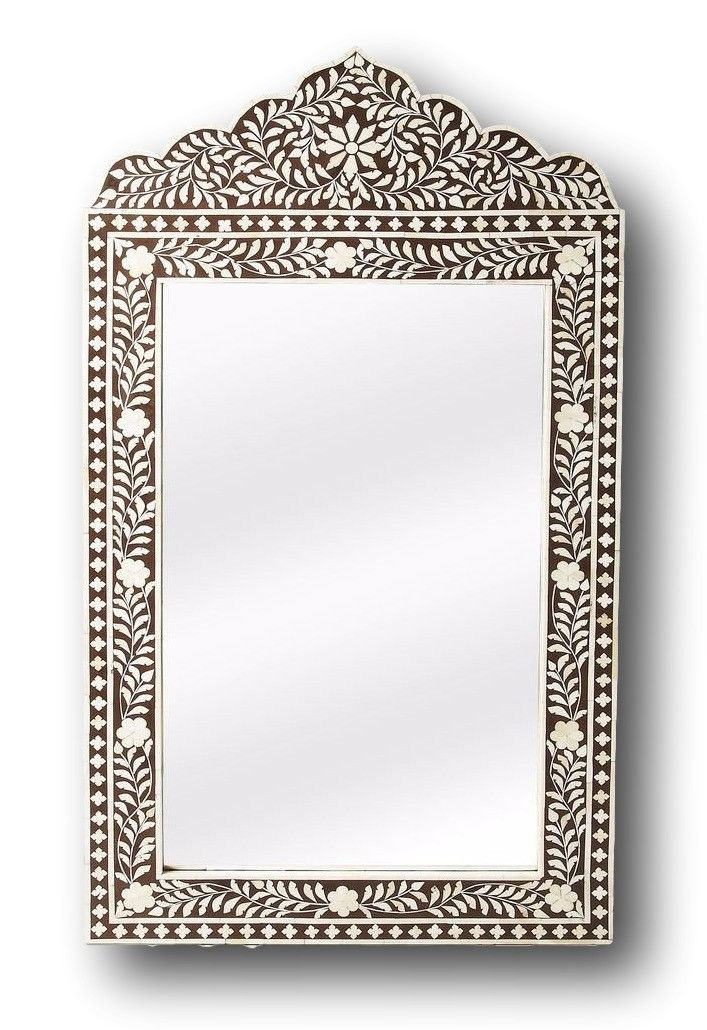 This artisan crafted wall mirror screams boho chic with features old world craftsmanship. No two mirrors are ever exactly alike as each piece is handcrafted takes weeks of painstaking effort. The intr