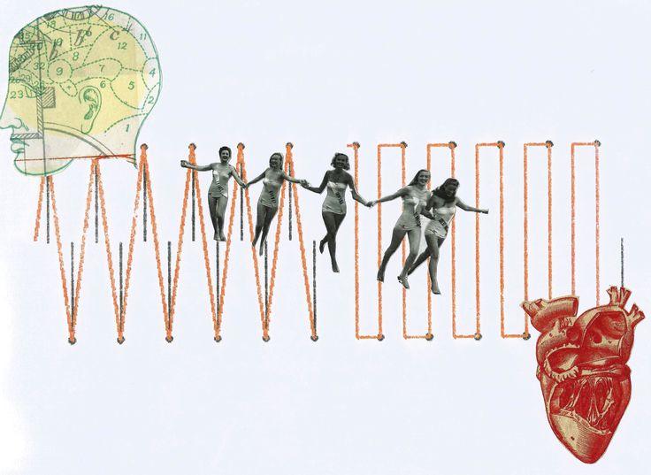 """Collage Ilustración #3 """"Alternancia"""", por Eli Cárdenas."""