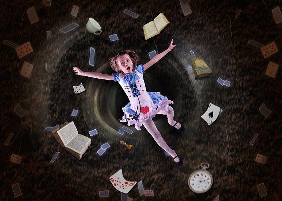 Alice in Wonderland Digital Backdrop, Digital Background, Background Stock, Photoshop Background, Instant Download, Digital Download