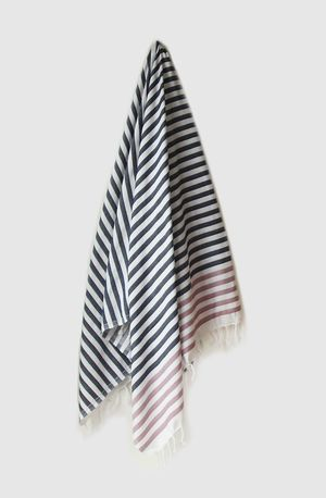 Sheker Candy Stripe Turkish Towel  Indigo and Lavender - $49 AUD